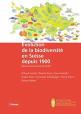 Couverture du livre Évolution de la biodiversité en Suisse