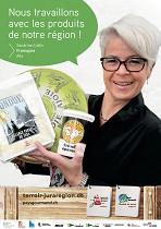Affiche de Fromajoie avec Sandrine Cattin